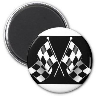 checkered flag refrigerator magnets