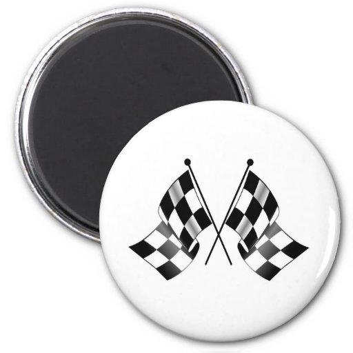 checkered flag magnet