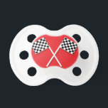"""Checkered Flag Pacifier<br><div class=""""desc"""">This would be perfect for any little one! It would also make the perfect gift for the automotive loving parents of a new bundle of joy!</div>"""