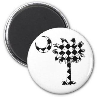 Checkered Flag Palmetto Fridge Magnets