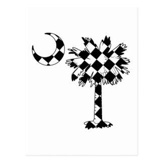 Checkered Flag Palmetto Postcard