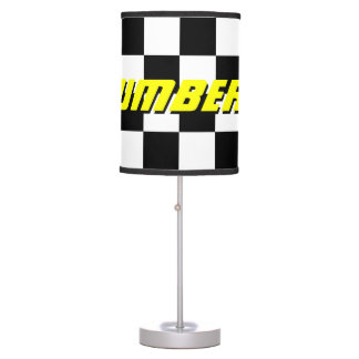 Checkered flag pattern auto racing table lamp