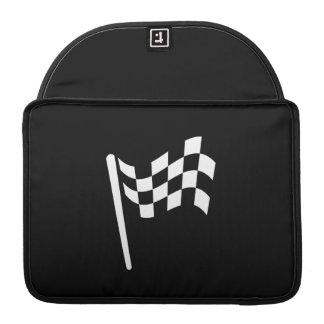 Checkered Flag Pictogram MacBook Pro Sleeve