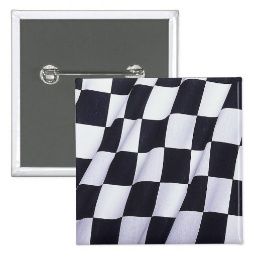 Checkered flag pinback buttons