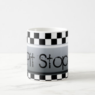 Checkered Flag Pit Stop Classic White Coffee Mug