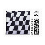 Checkered flag postage