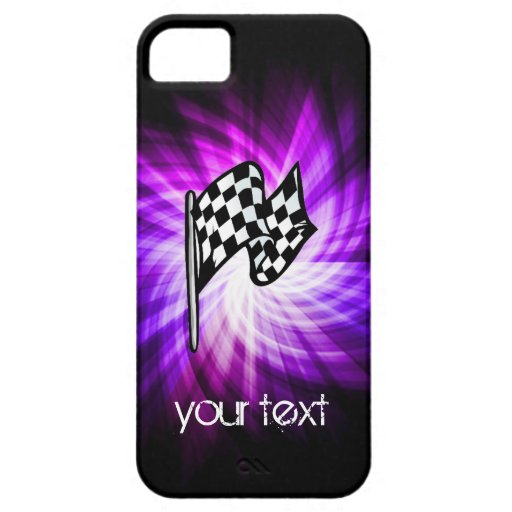 Checkered Flag; purple iPhone 5 Cases
