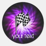 Checkered Flag; purple Sticker