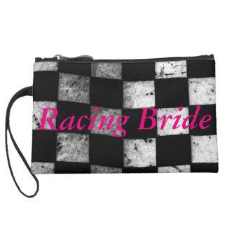 Checkered Flag Racing Bride Wristlet