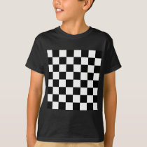 Checkered Flag Racing Chess Checkers Chessboard T-Shirt