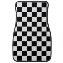 Checkered Flag Racing Design Car Floor Mat