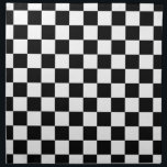 "Checkered Flag Racing Design Chess Checkers Board Cloth Napkin<br><div class=""desc"">Checkered Flag Racing Design Chess Checkers Checkerboard Squares Car Floor Mat.  Classic checkered flag race winner&#39;s black and white mosaic tile pattern driver, checkered, squares, mosaic, racing, winner, chess, checkerboard, checkers, black, white</div>"