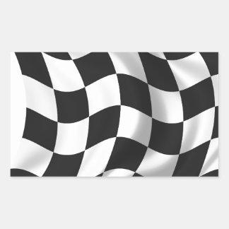 Checkered Flag - Racing Flag Rectangular Sticker
