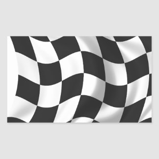 Checkered Flag - Racing Flag Rectangle Sticker