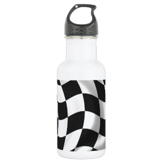 Checkered Flag - Racing Flag Water Bottle