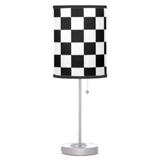 Checkered Flag Racing Pattern Table Lamps