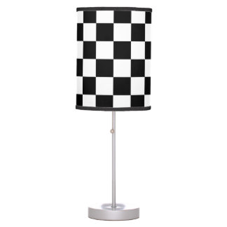 Checkered Flag Racing Pattern Table Lamp