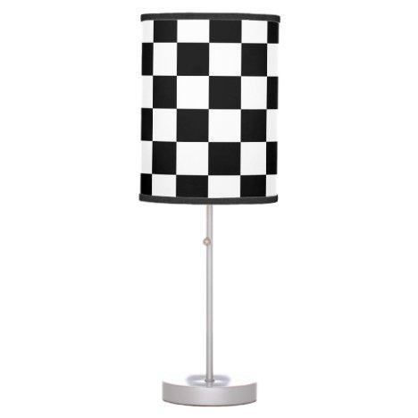 Checkered Flag Racing Theme Race Fan's Table Lamp