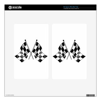 checkered flag skins for kindle fire