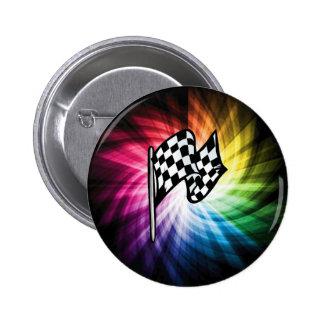 Checkered Flag Spectrum 2 Inch Round Button