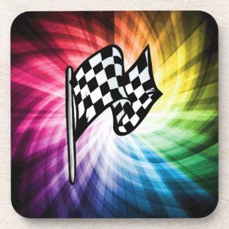 Checkered Flag Spectrum Beverage Coaster
