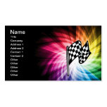 Checkered Flag Spectrum Business Card Templates