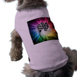 Checkered Flag Spectrum Doggie Shirt