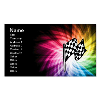 Checkered Flag Spectrum Double-Sided Standard Business Cards (Pack Of 100)