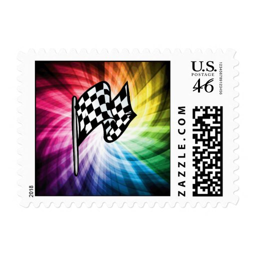 Checkered Flag Spectrum Stamps