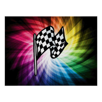 Checkered Flag Spectrum Posters