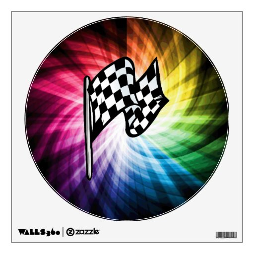Checkered Flag Spectrum Wall Decals