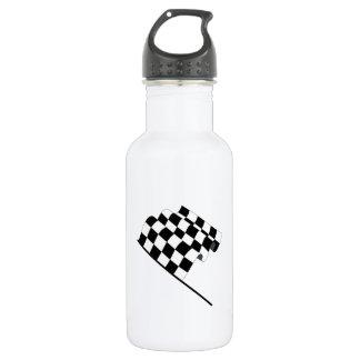 Checkered Flag Stainless Steel Water Bottle