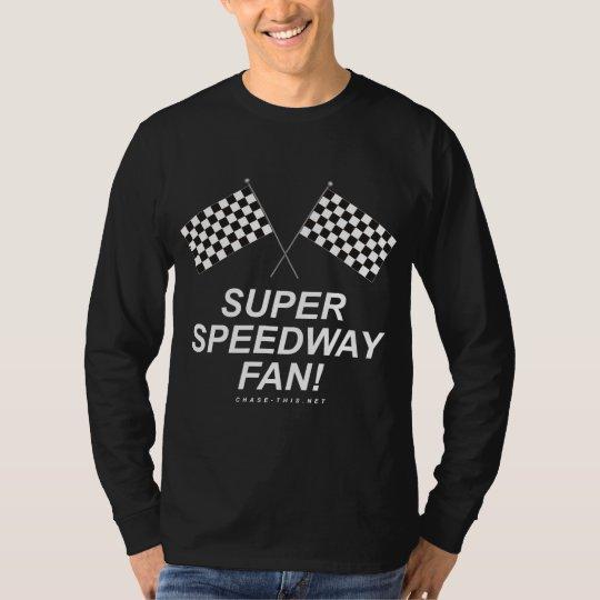 CHECKERED FLAG SUPER SPEEDWAY FAN T-Shirt