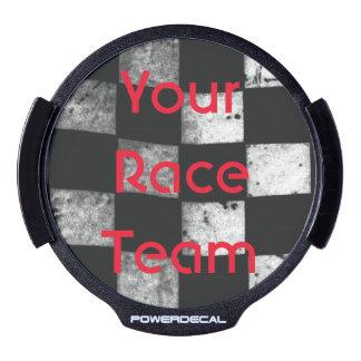 Checkered Flag Team Race Decal LED Car Decal