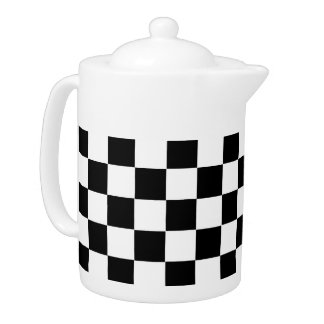 Checkered Flag Teapot
