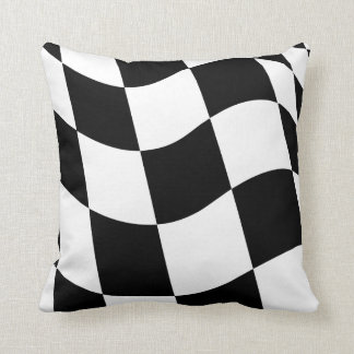 Checkered Flag Throw Pillow