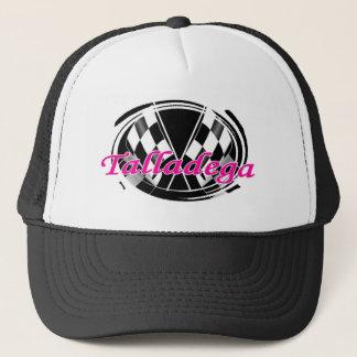 checkered flag trucker hat