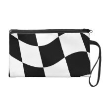 Checkered Flag Wristlet