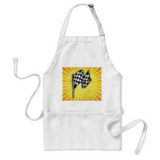 Checkered Flag; yellow Aprons