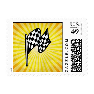 Checkered Flag; yellow Stamps