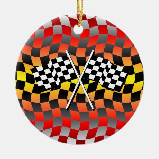 checkered flags christmas ornaments