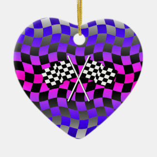 checkered flags christmas tree ornaments
