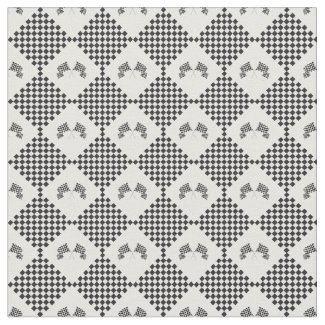 Checkered Flags Design Fabric