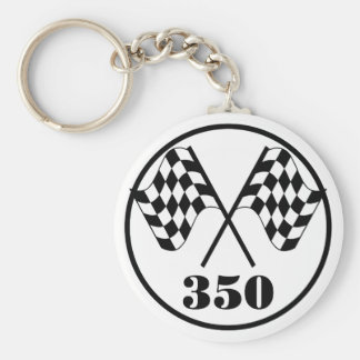 Checkered Flags Keychain