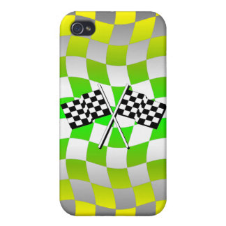 checkered flags racing iPhone 4 cover