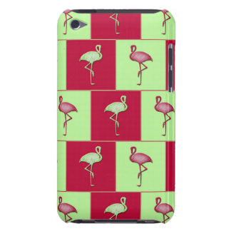 Checkered flamingos pattern Case-Mate iPod touch case