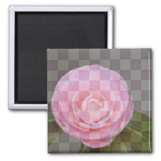 Checkered Floral Magnet