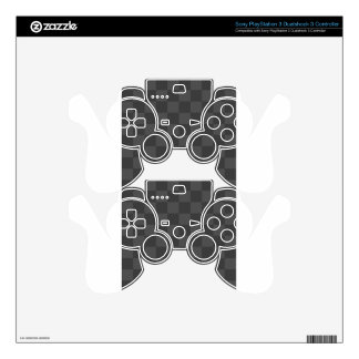 Checkered - Gray and Dark Gray PS3 Controller Decal