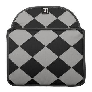 Checkered (Gray & Black) Sleeves For MacBooks