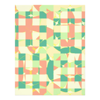 Checkered green and salmon flyer